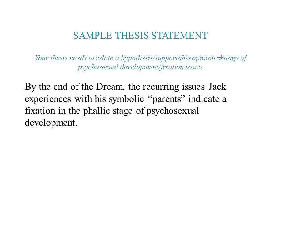 Thesis statement sample topic