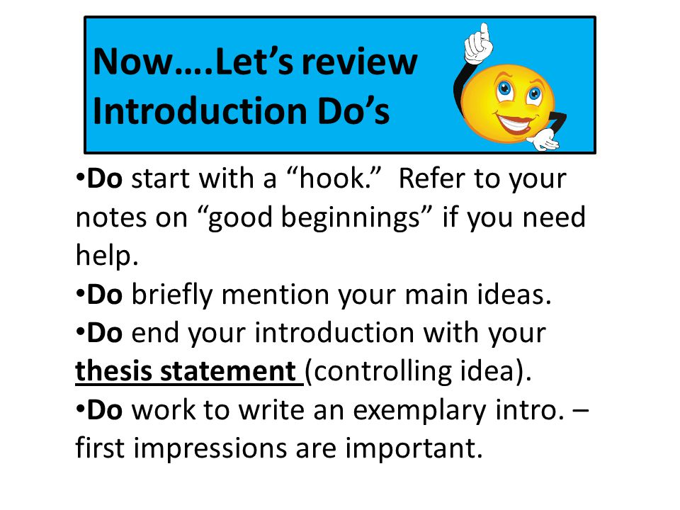 how to start an introduction with a hook