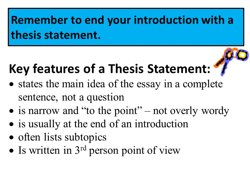 What are the main features of a good essay