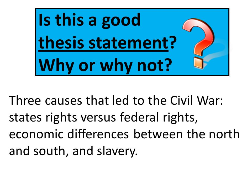 What is the difference between a thesis statement and a