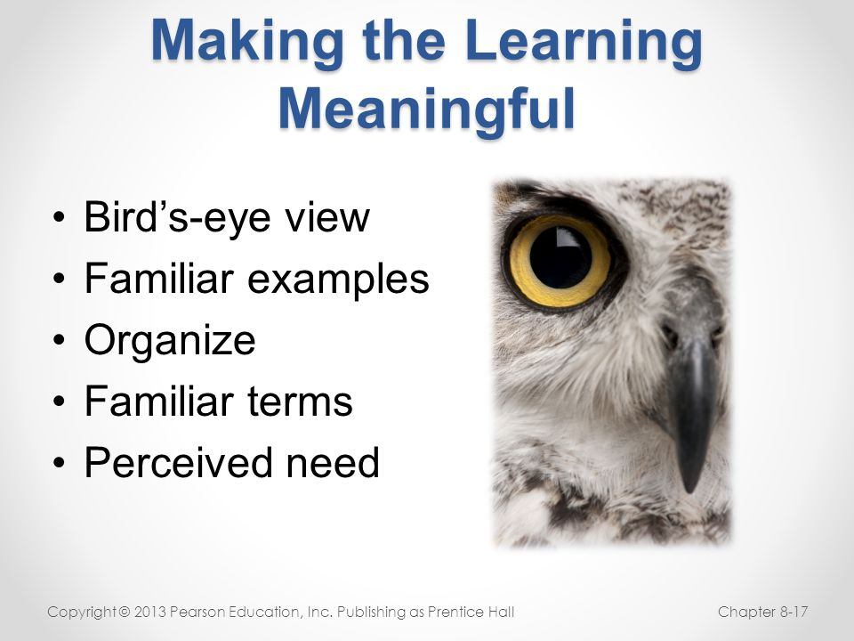 Making the Learning Meaningful