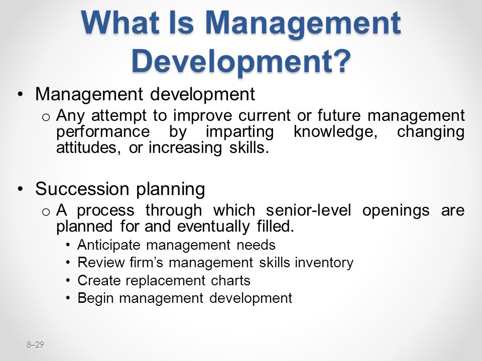 What Is Management Development