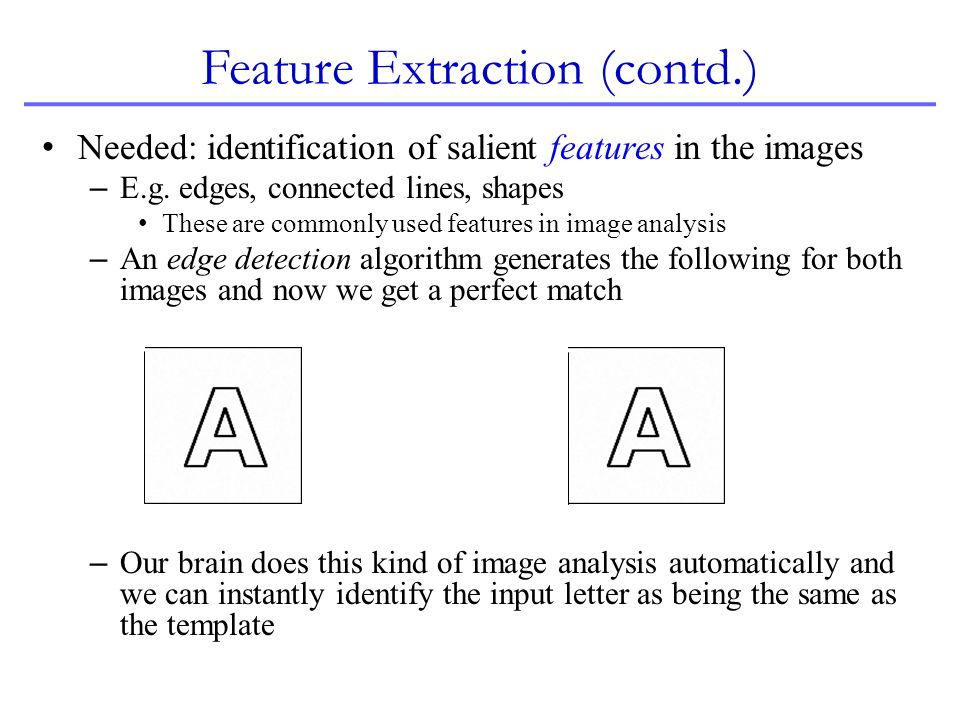 Feature Extraction (contd.)