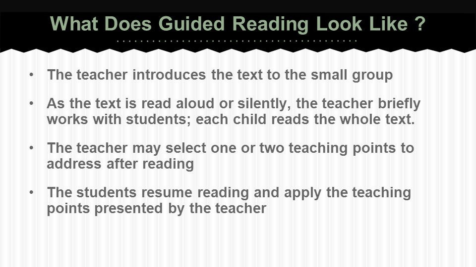 What Does Guided Reading Look Like