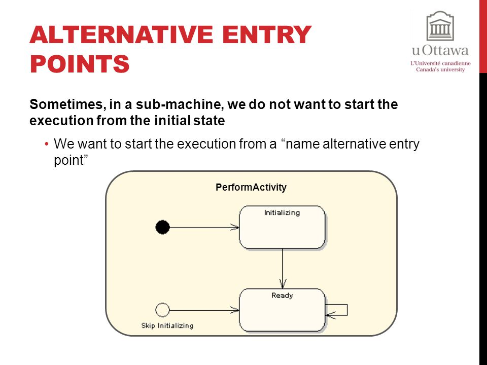 Alternative Entry Points