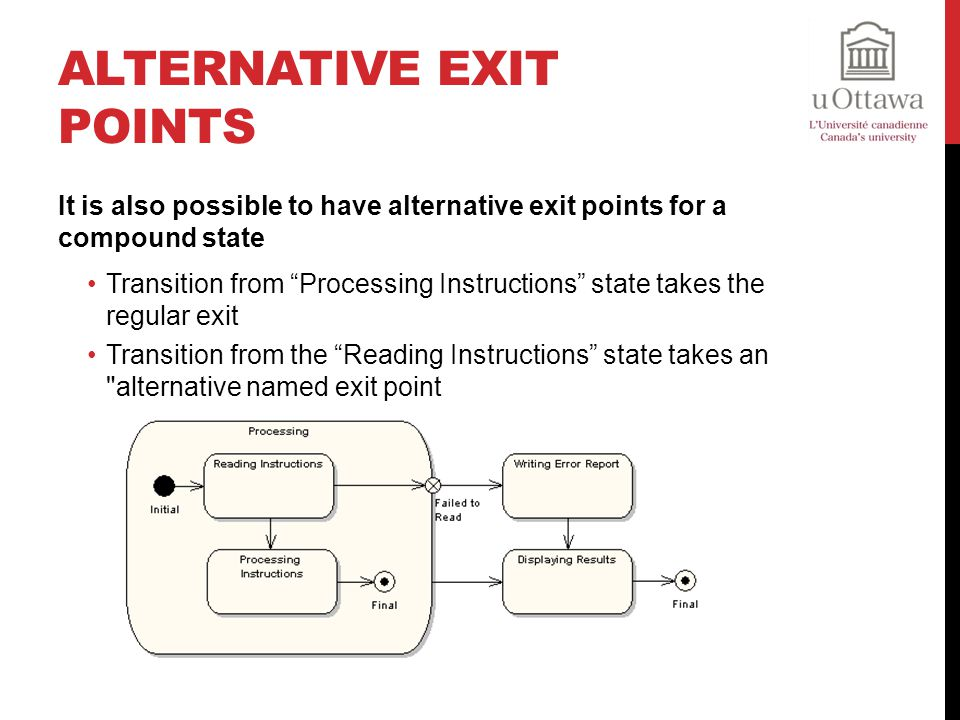 Alternative Exit Points