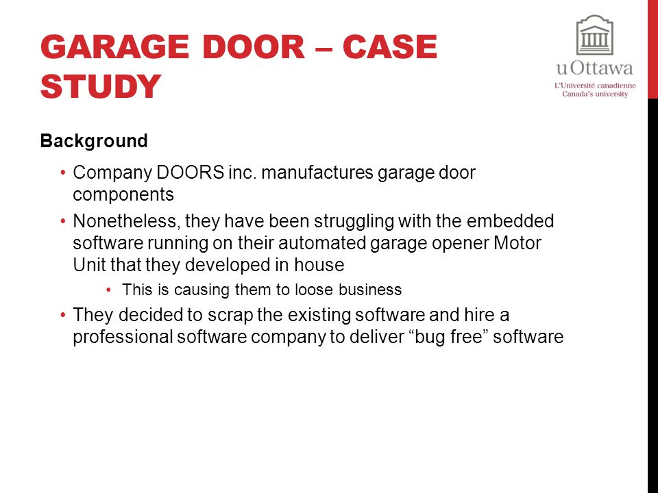 Garage Door – Case Study