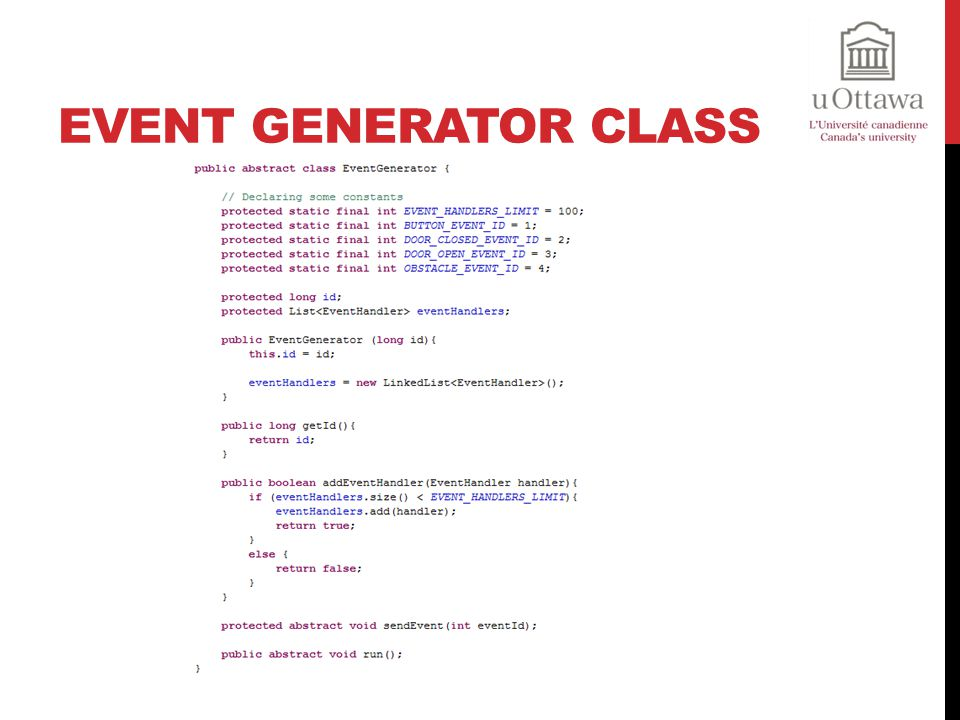 Event Generator Class