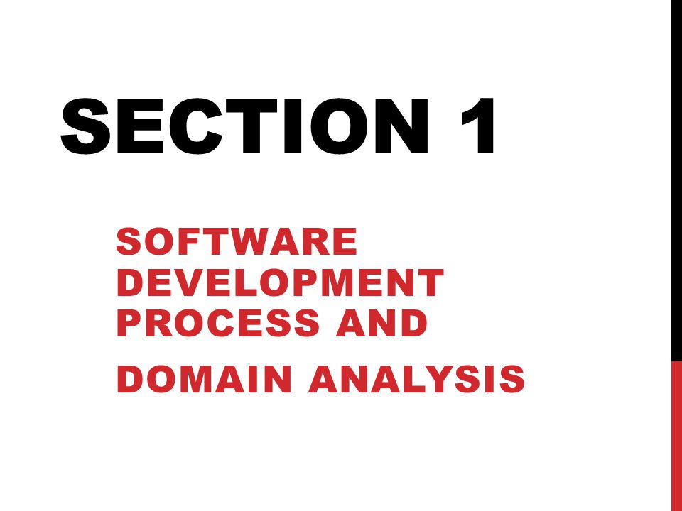 Software development process and Domain Analysis