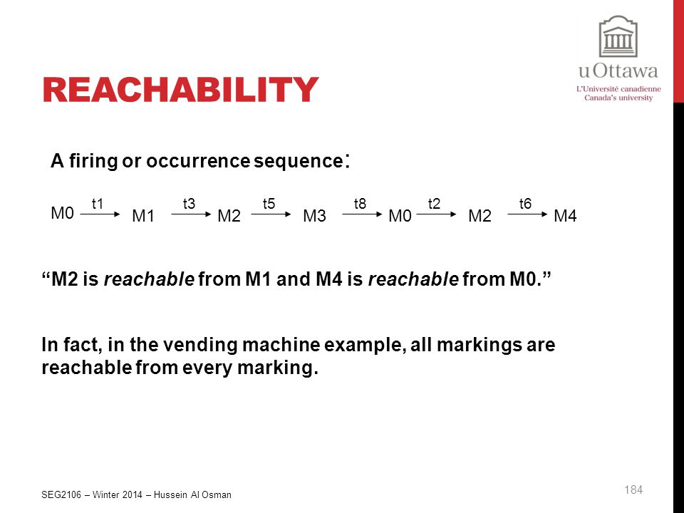 Reachability A firing or occurrence sequence: