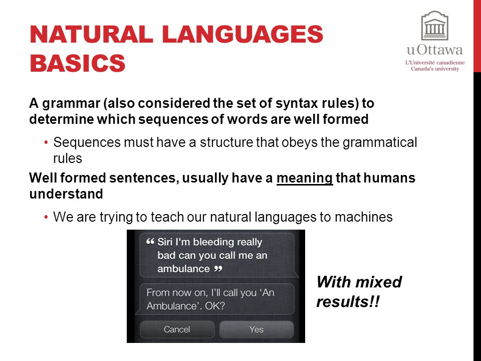Natural Languages Basics