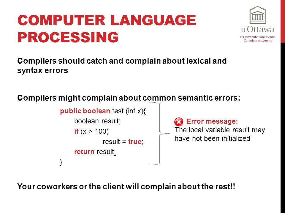 Computer Language Processing