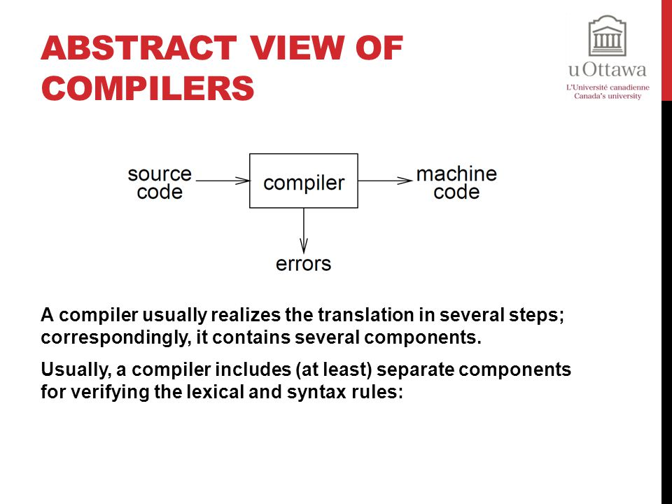 Abstract View of Compilers