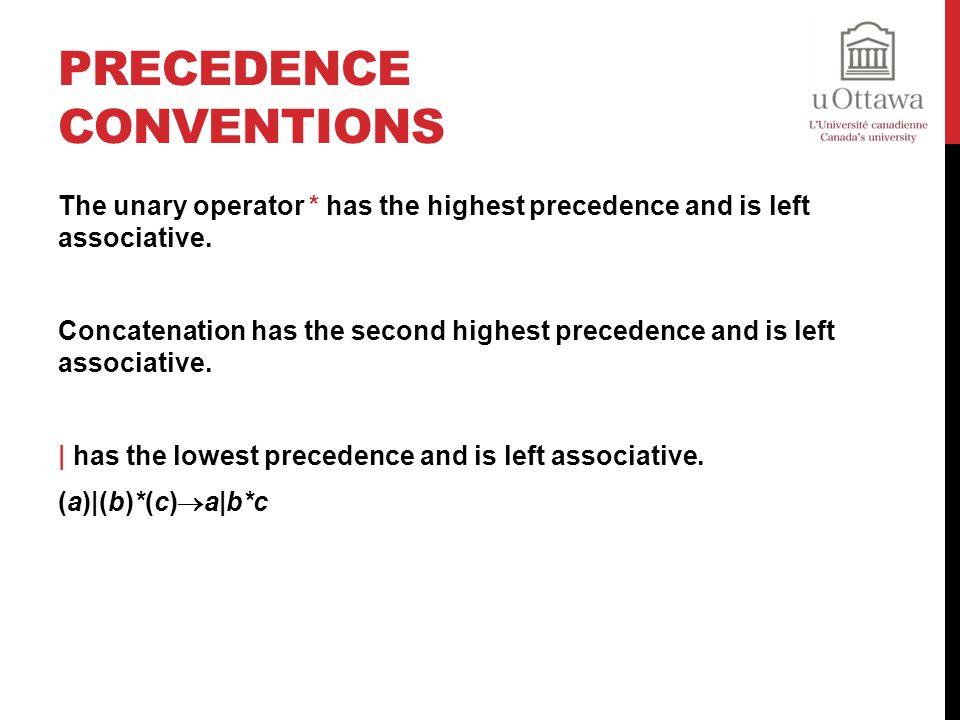 Precedence Conventions