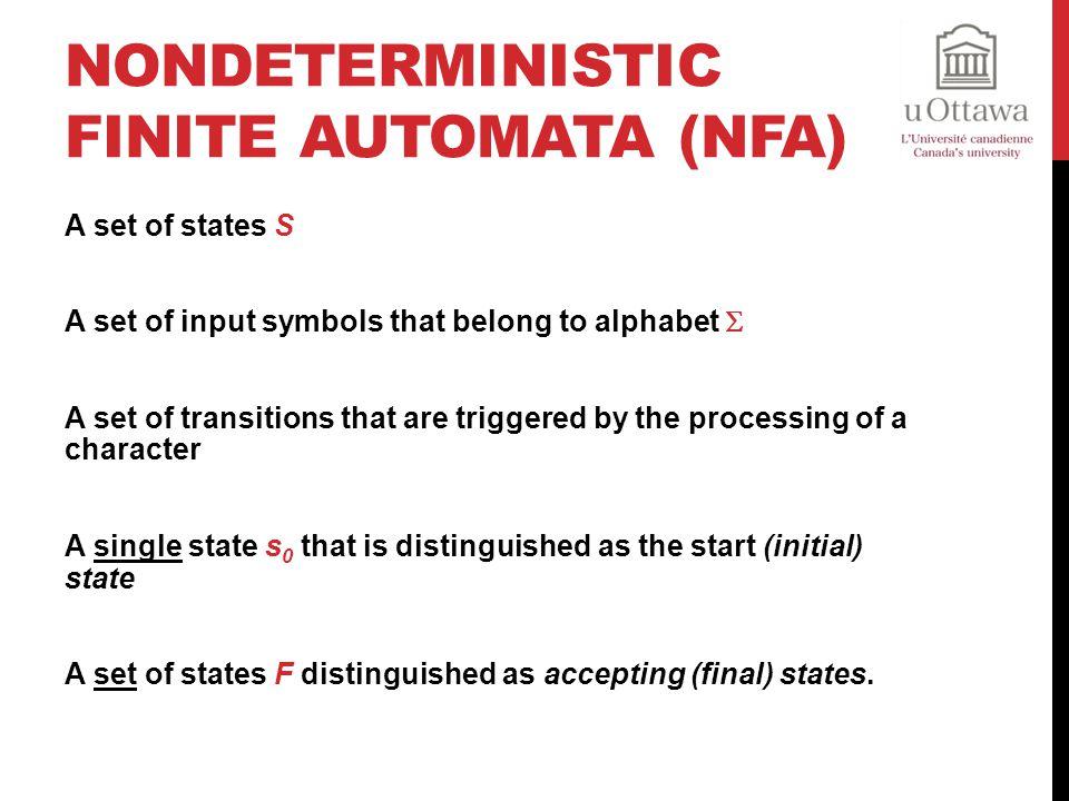 Nondeterministic Finite Automata (NFA)