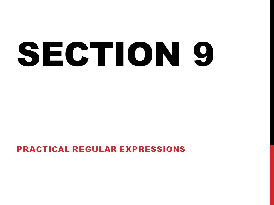Practical Regular Expressions