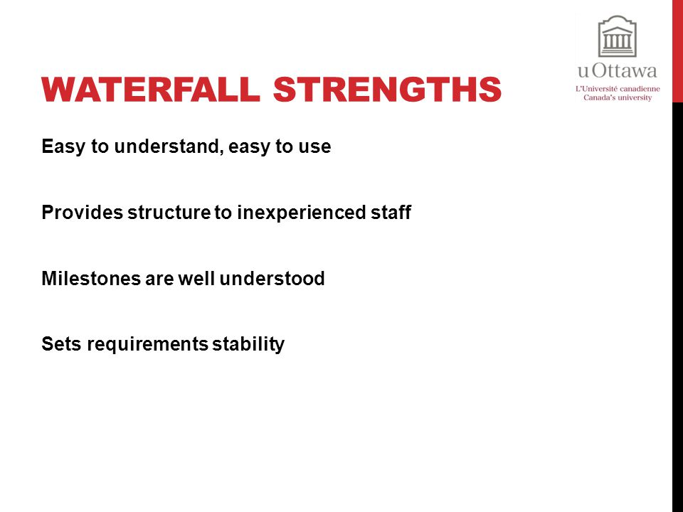 Waterfall Strengths