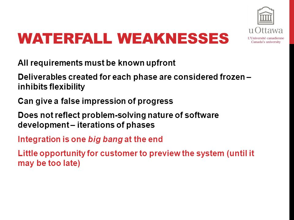 Waterfall Weaknesses