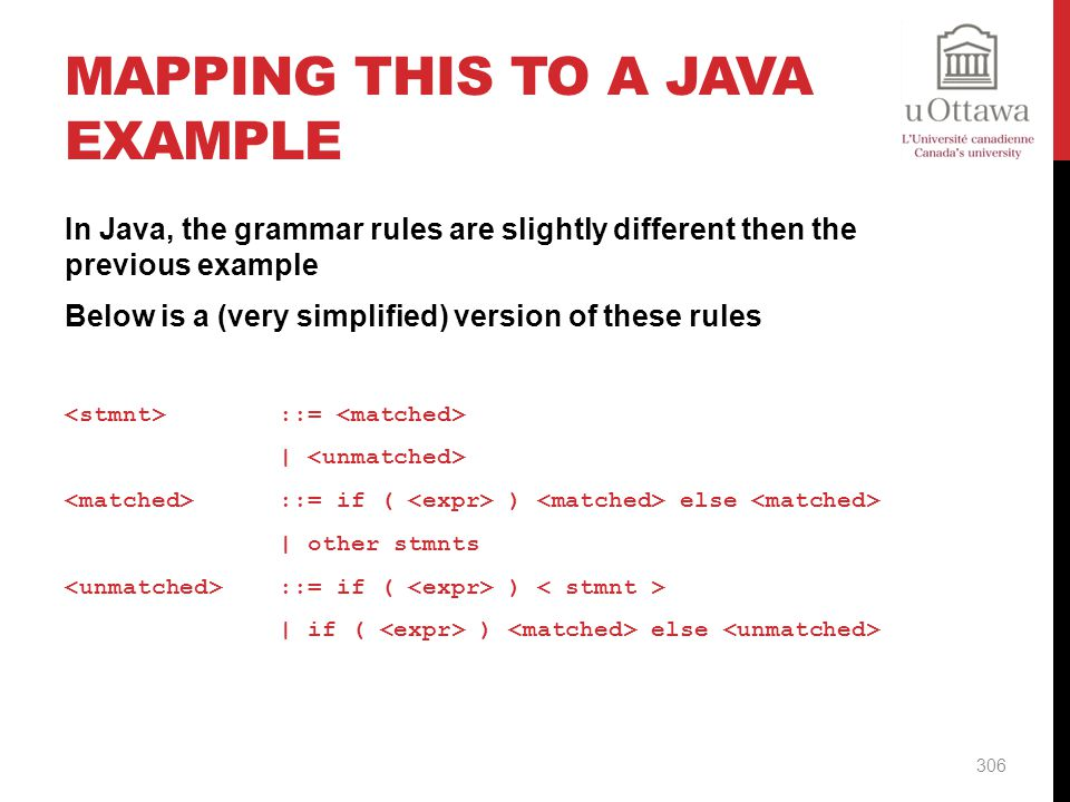Mapping this to a Java Example