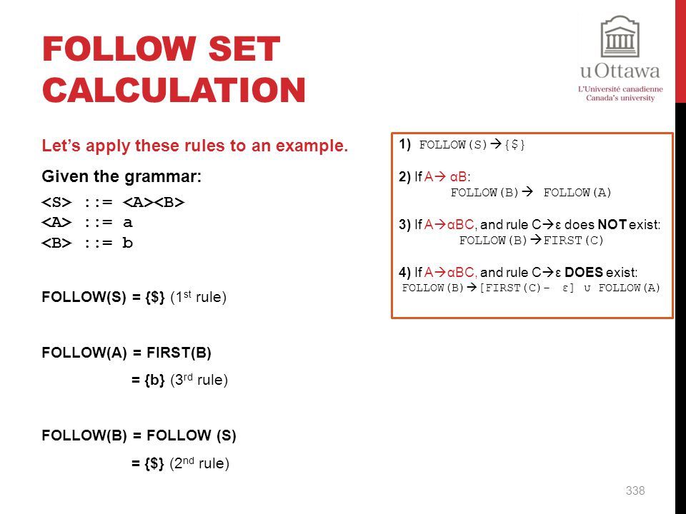 FOLLOW Set Calculation