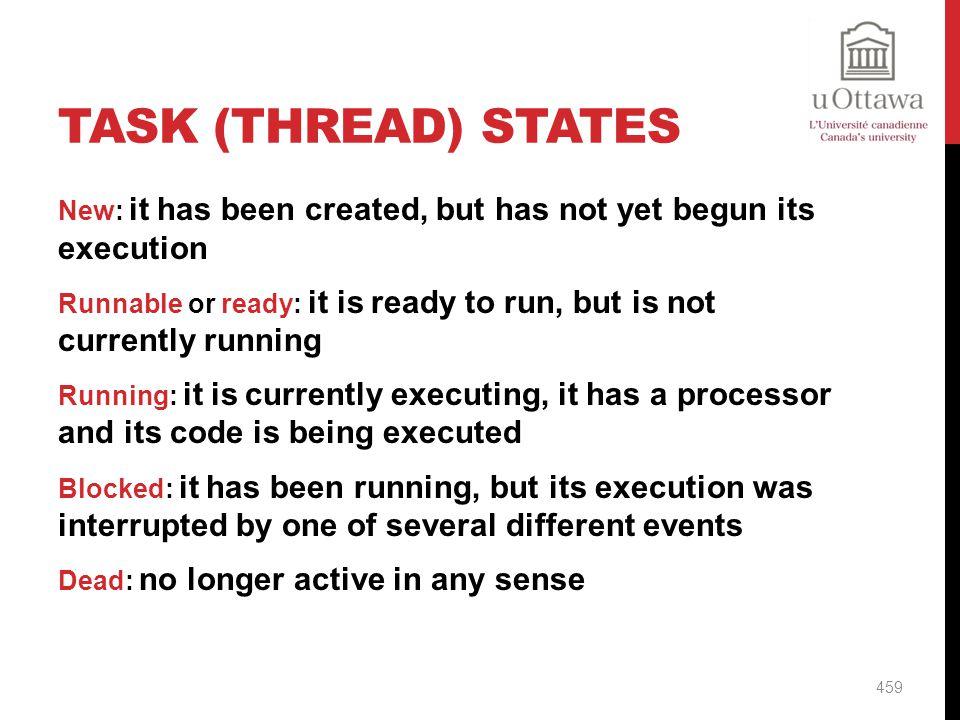 Task (Thread) States
