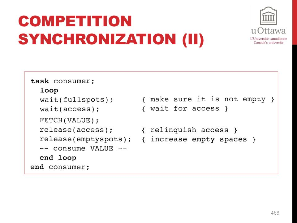 Competition Synchronization (II)