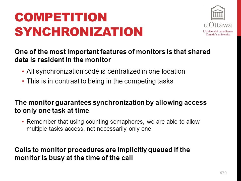 Competition Synchronization