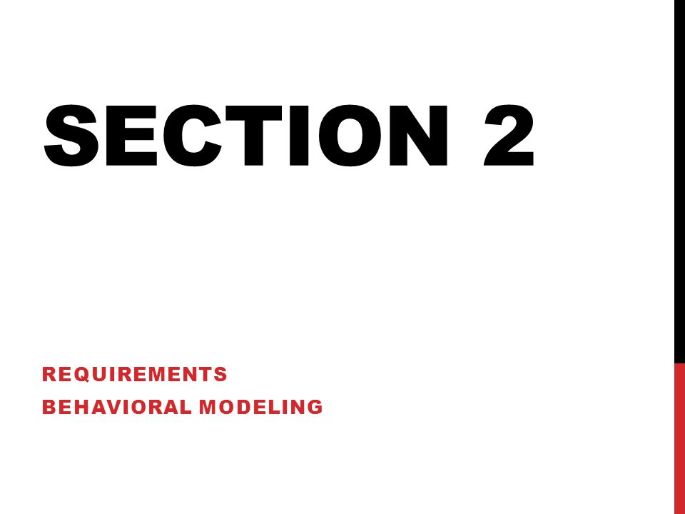 Requirements Behavioral Modeling