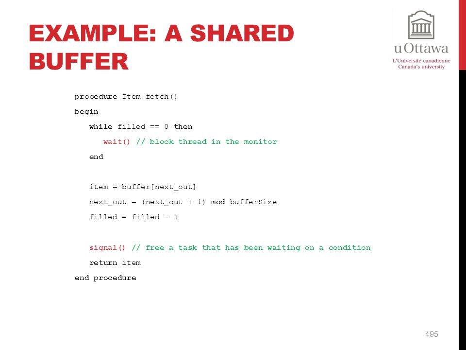 Example: A Shared Buffer