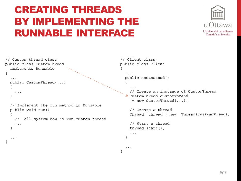 Creating threads by implementing the runnable interface
