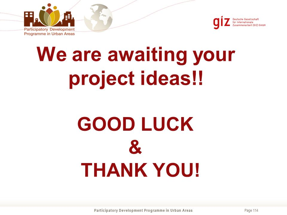 We are awaiting your project ideas!!