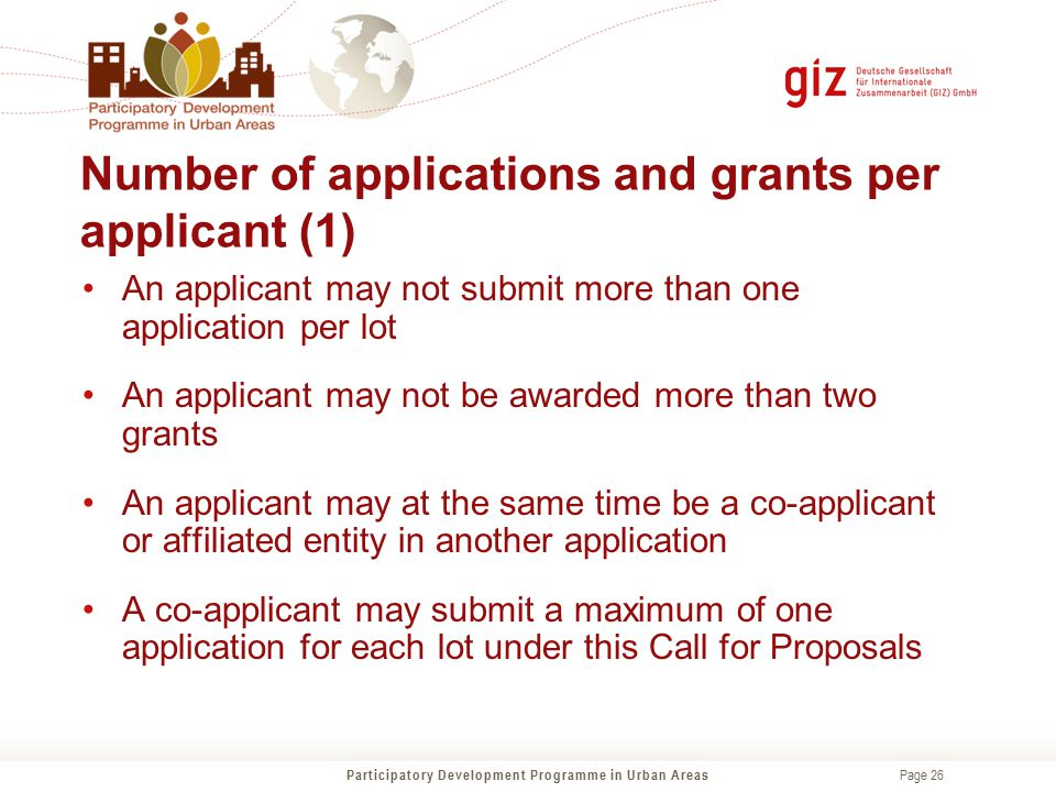 Number of applications and grants per applicant (1)