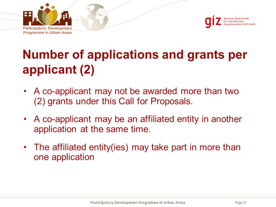 Number of applications and grants per applicant (2)