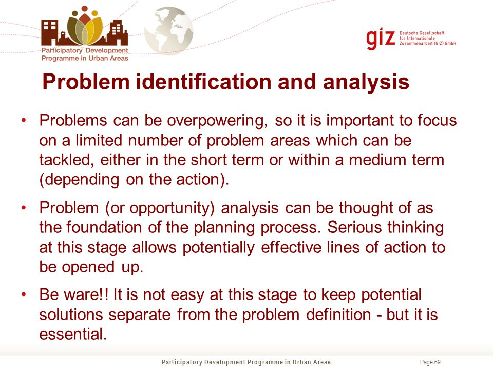 Problem identification and analysis