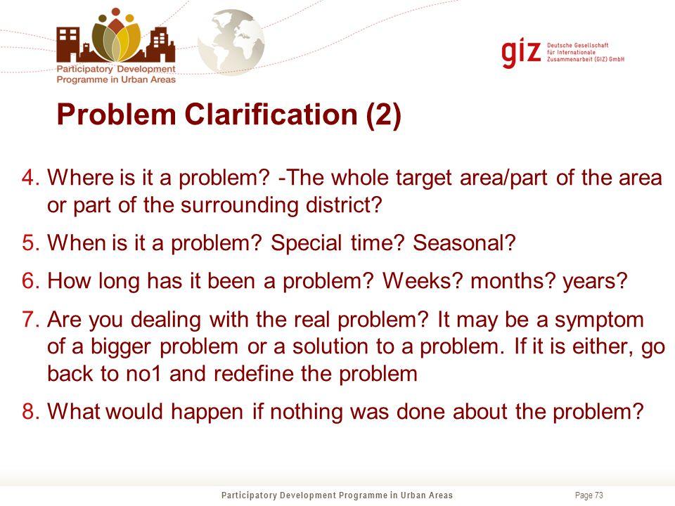 Problem Clarification (2)