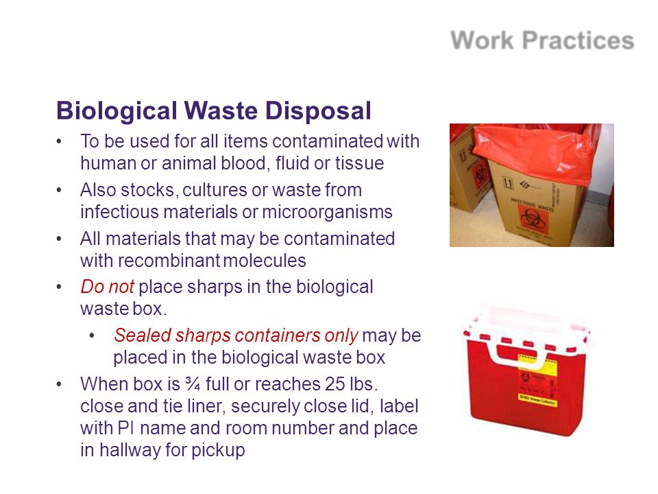Biological Waste Disposal