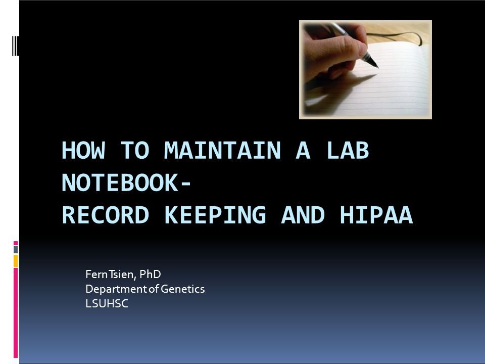 RECORD KEEPING AND HIPAA