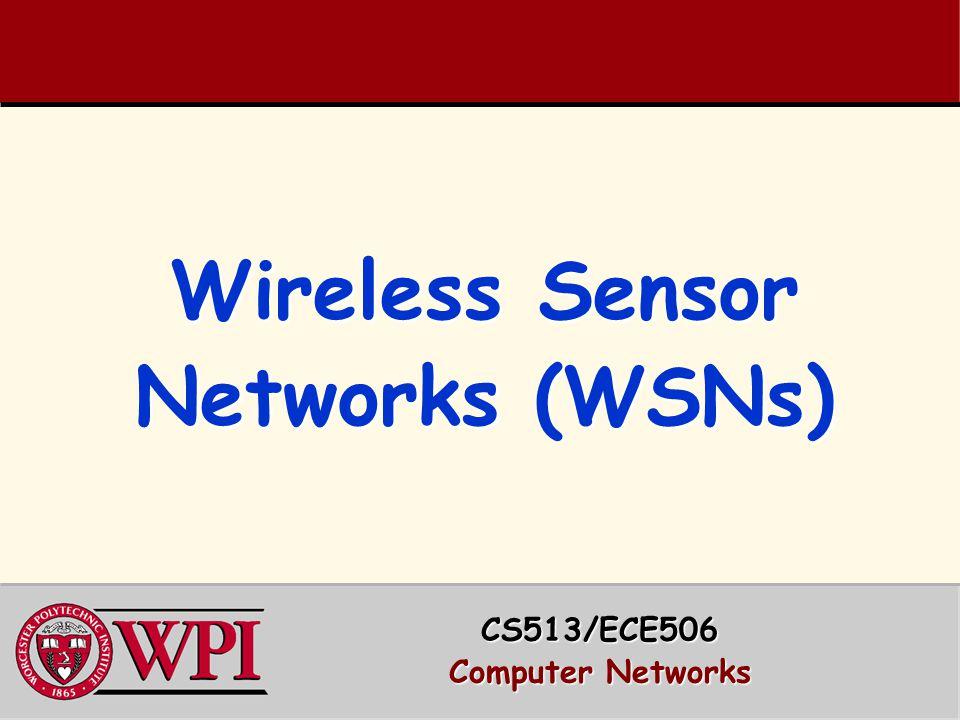 Wireless Sensor Networks (WSNs)