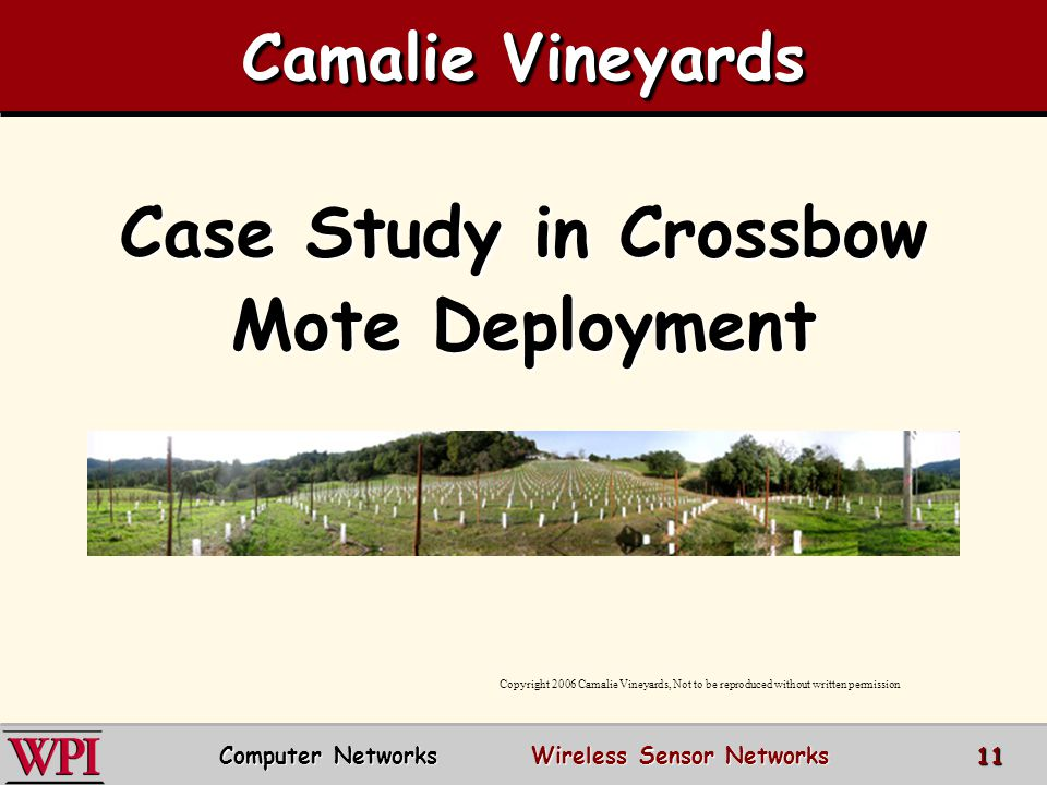 Case Study in Crossbow Mote Deployment