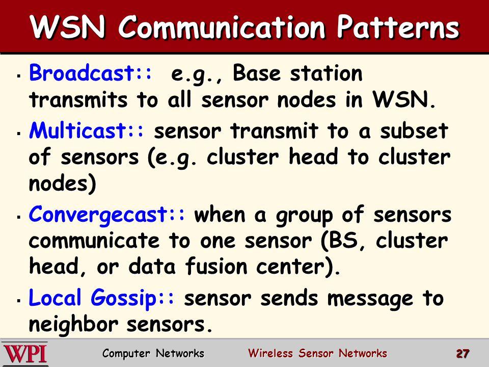 WSN Communication Patterns
