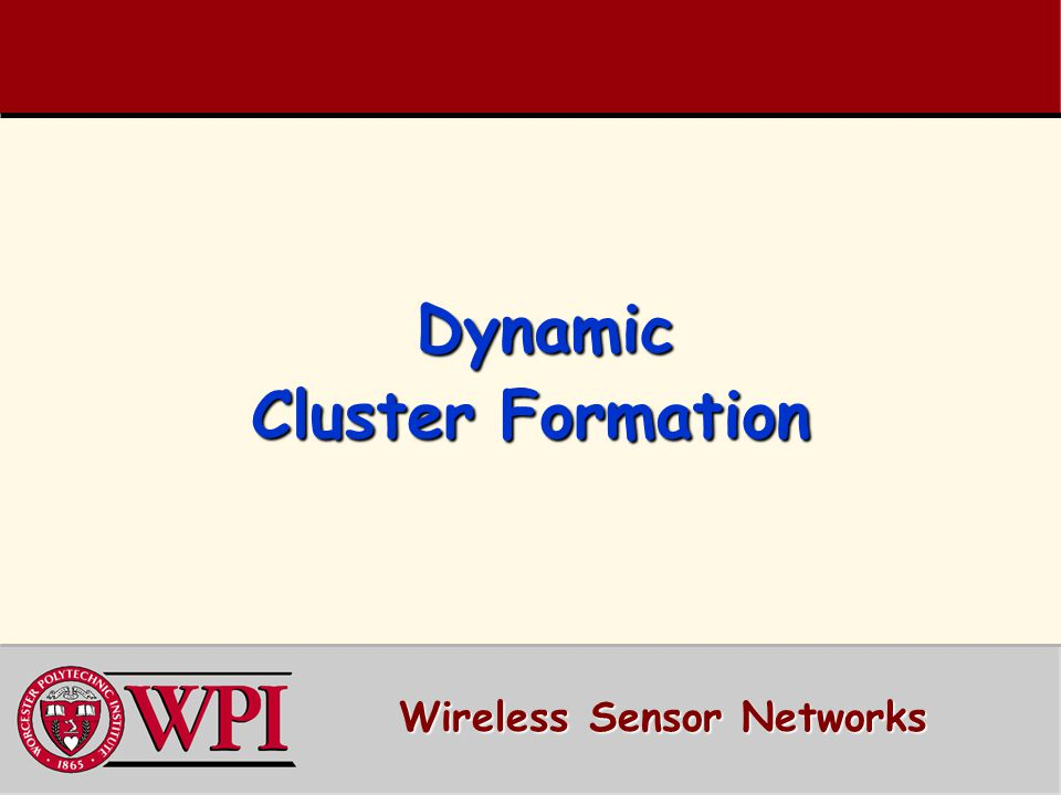 Dynamic Cluster Formation