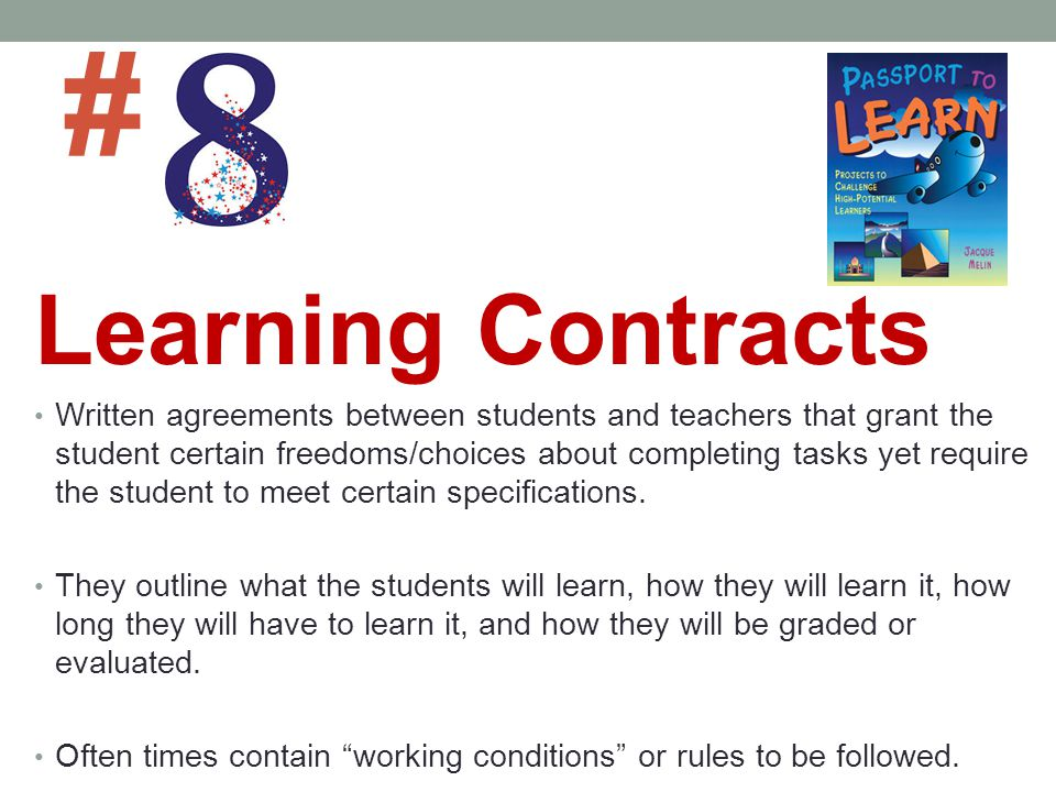 # Learning Contracts.