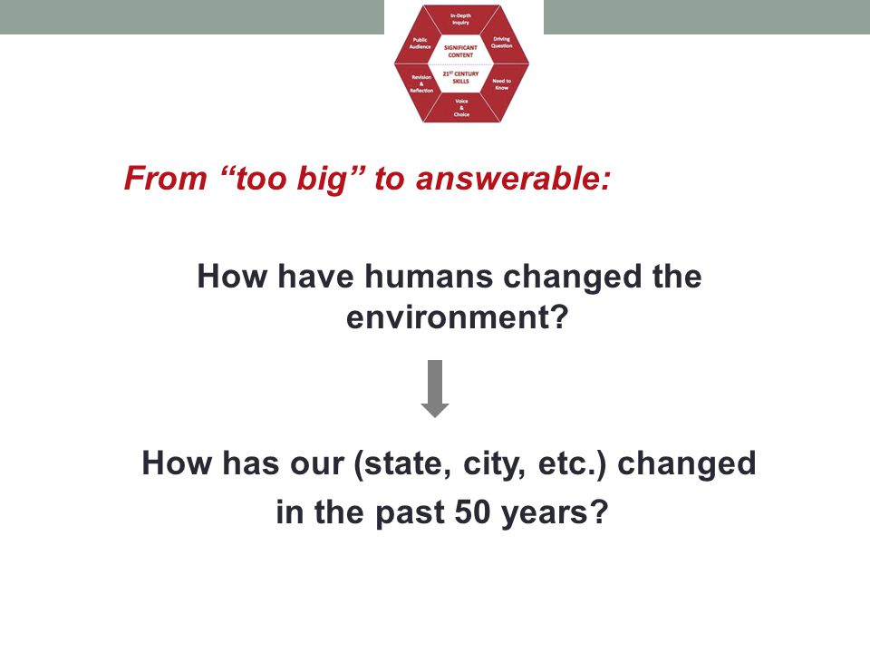 How have humans changed the environment