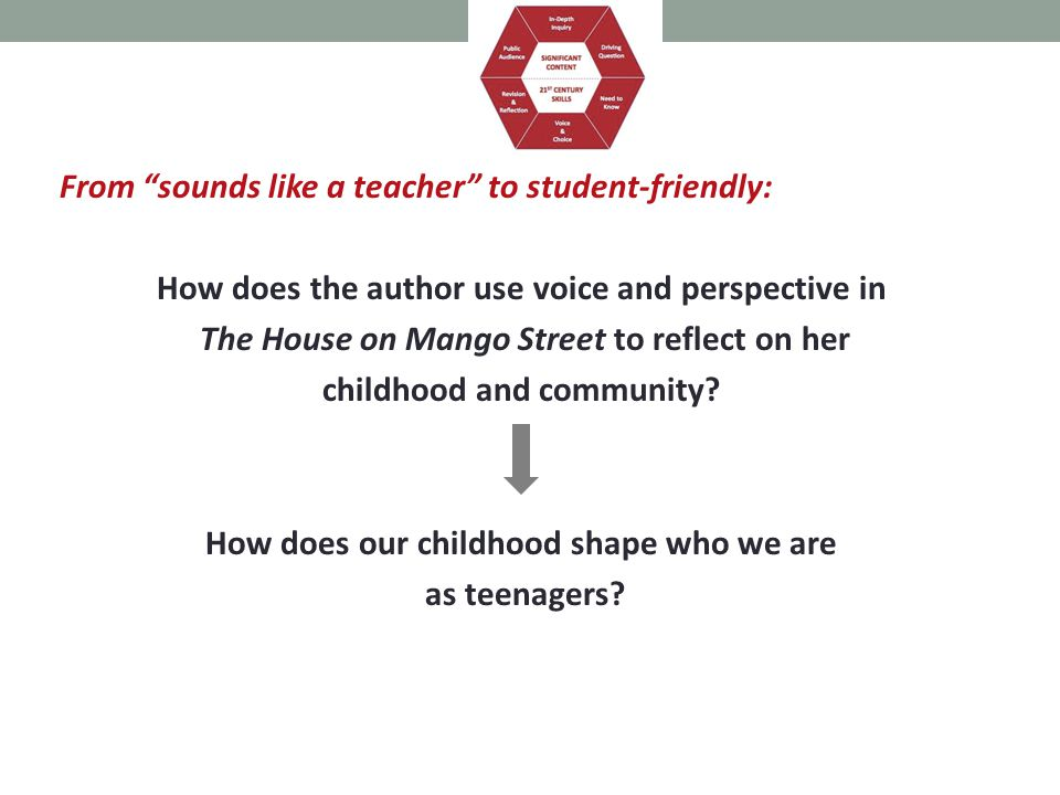 From sounds like a teacher to student-friendly: