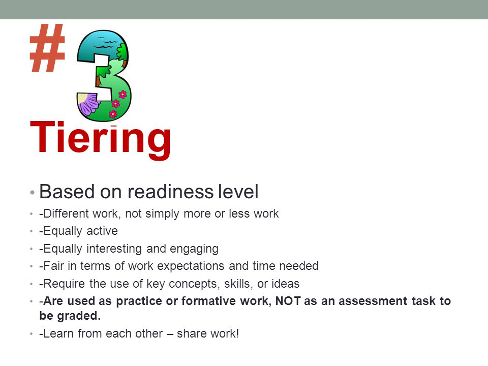 # Tiering Based on readiness level