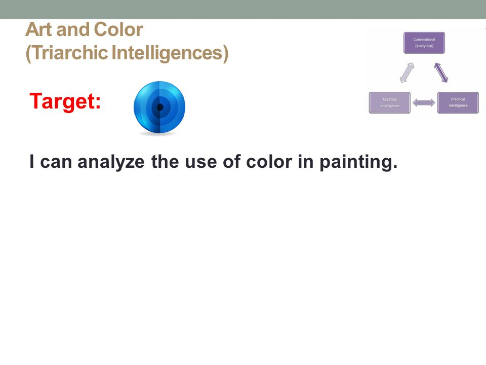 Art and Color (Triarchic Intelligences)