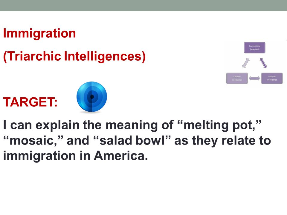 Immigration (Triarchic Intelligences) TARGET: