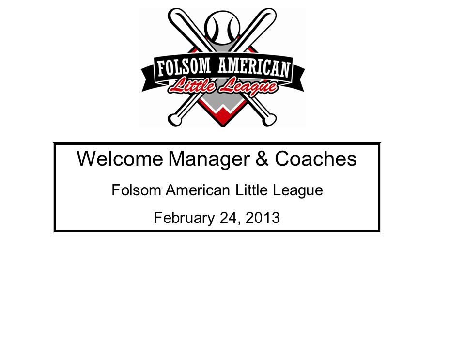 Welcome Manager & Coaches