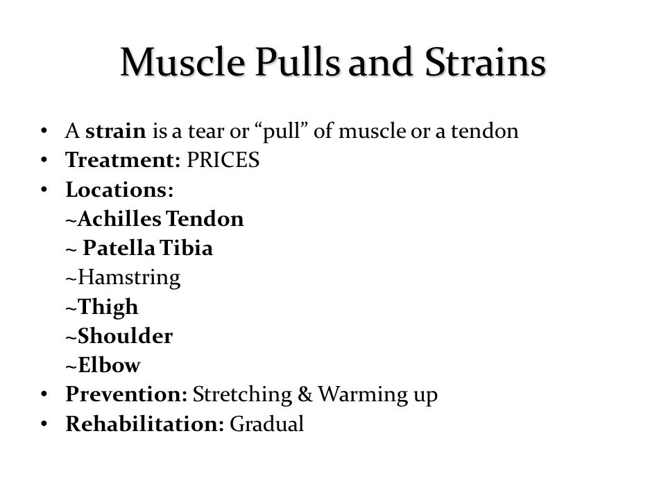 Muscle Pulls and Strains