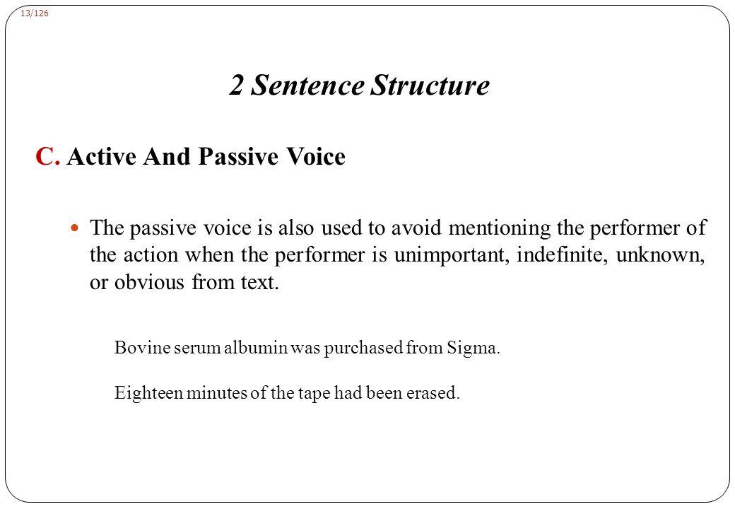2 Sentence Structure D. Nouns From Verbs